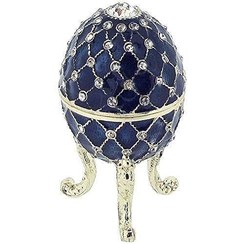 Juliana Treasured Trinket Dekofigur blau faberge-Style Ei Schmuck Box -