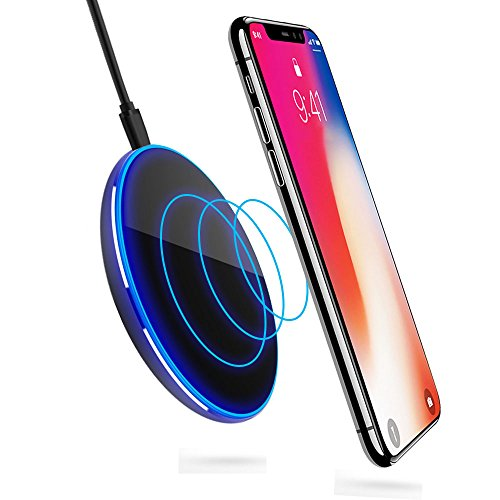 Wireless Ladegerät, ikalula Kabelloses Induktive Ladestation Qi Ladegerät Wireless Fast Charger für iPhone X/8/8 Plus, Samsung Galaxy Note8/S8/S8 Plus/S7/S6, HTC, LG, Nexus und Alle Qi Geräte