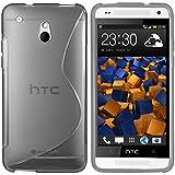 mumbi S-TPU Schutzhülle für HTC One mini Hülle transparent schwarz
