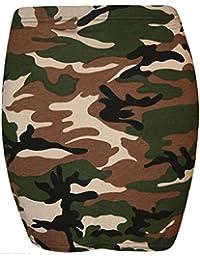 MIXLOT Neuer Frauen-reizvoller Ausdehnungs-elastischer Leopard-Tartan-Jersey-Comic-Druck Bodycon Sommer-kurzer Minirock