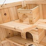 TecTake XXL Holz Hamsterkäfig Kleintierkäfig Mäusekäfig mit Zubehör - 3
