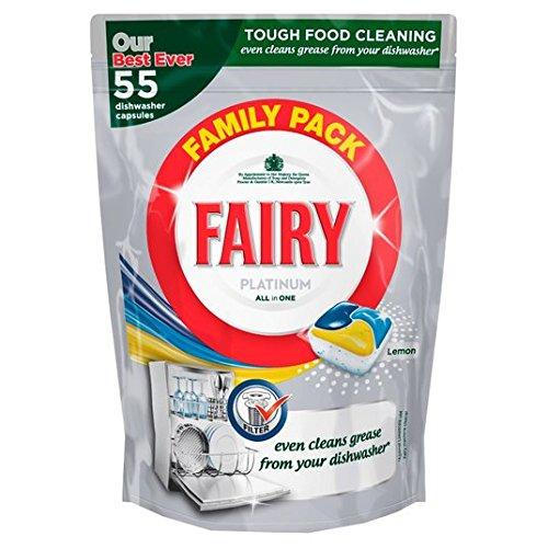 Preisvergleich Produktbild Fairy Platinum All in One Lemon Spülmaschinen-Tabs 55 pro Packung