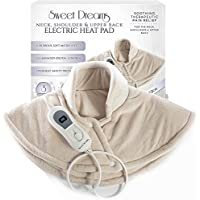 Sweet Dreams Luxurious Soft Neck & Shoulder Electric Heating Pad - Therapeutic, Soothing Pain Relief Therapy for Neck, Shoulders and Upper Back