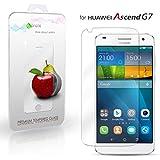 Huawei Ascend G7 Cristal Protector de pantalla, eProte® Vidrio Templado para Huawei G7 / Ascend G7, 5.5 pulgadas - Dureza del vidrio 9H, Anti-golpe, Anti-rayado, Revestimiento oleofóbico, anti-huellas dactilares, Fácil de limpiar, Transparencia HD y Delicado al tacto, Espesor óptimo de 0.33 mm, los bordes redondeados de 2.5D