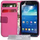 Samsung Galaxy S4 Active Tasche Heiß Rosa PU Leder Brieftasche Hülle