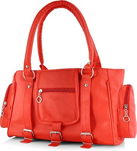 Naaz Bags Collection Women's 3 Buckle Hand Bag ( Red_NBC000254)  available at amazon for Rs.210