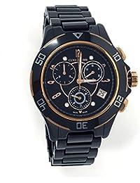 Cerruti 1881Diamond crwm033z281r reloj para mujer 36mm negro alta Tech Cerámica Rose oro tono