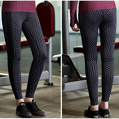 Zhhlaixing Fashion Womens Outdoor Fitness Tights Leggings yoga Running Pants Q15-0007 Multicolore