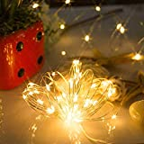 ODJOY-FAN 6 Stück 3m 30LED Fee Licht Zeichenfolge Licht Batterie Sternenklar Zeichenfolge Kupfer Draht Dekor Weihnachten Wohnaccessoires Beleuchtung String Light (Gelb,6 PC)