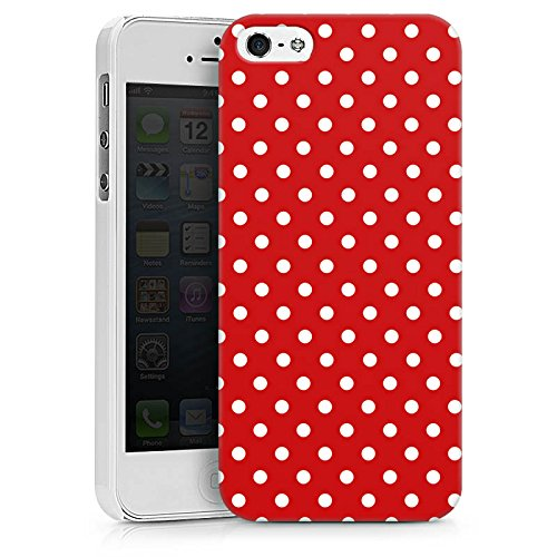 Apple iPhone 6 Hülle Case Handyhülle Punkte Rockabilly Kleid Hard Case weiß