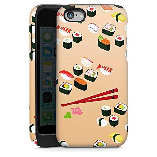 Apple iPhone 6 Housse Outdoor Étui militaire Coque Sushi Nourriture Nourriture Cas Tough brillant
