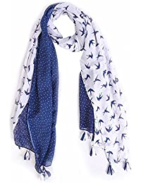 Ziva Fashion Women's White Printed Stole