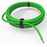 Auprotec® Cable unipolar 1.0 mm² FLRY-B Hilo eléctrico en anillo: 5m, verde