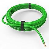 Auprotec® Câble unipolaire 0.75 mm² Fil Électrique en anneau: 10m, 0.75 mm² green...