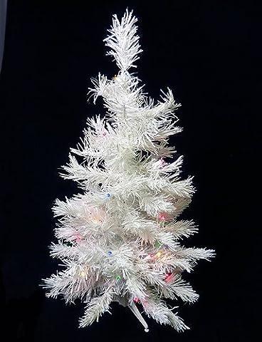 3'pré-illuminé LED Blanche Neige Sapin de Noël artificiel lumineux multicolore