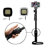 #5: Shopizone Yunteng YT 1288 Bluetooth Selfie Stick with Selfie Flash Light Combo For Apple, Samsung, HTC, Lenovo, Oneplus, Motorola, Nexus, Xiaomi Redmi Note 3, Coolpad Note 3 Plus, Lenovo Zuk Z1 / Vibe k5