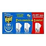 Raid Diffuseurs Électriques Liquide, 3 Diffuseurs + 3 Recharges, Moustiques et Moustiques Tigres,...