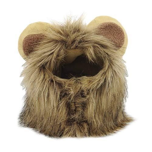 ihen-Tech Haustier Hund Katze Kleid Kostüm Perücke Kappe Hut Cosplay Lion Haar Mähne Ohren Kopfmütze Herbst Schalldämpfer Schal
