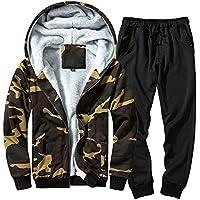 STRIR Sudadera de Camuflaje otoñal de Invierno para Hombre, pantalón Superior, Conjuntos de chándal de Traje Deportivo