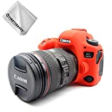 First2savvv rot TPU Gummi Ganzkörper- präzise Passform Kameratasche Fall Tasche Cover für Canon EOS 6D Mark II 6D MK II - XJPT-6D Mark II-GJ-A08G11
