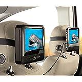 Reproductor de DVD de 2 pantallas para coche 17,5 cm pantallas LCD, USB, lector de tarjetas SD y mando a distancia