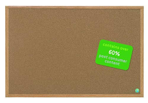 MasterVision Earth Cork Board, 3 x 4 Feet, MDF Oak Frame (SB0720001233) by MasterVision (Cork Board Mastervision)