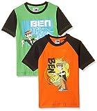 Ben10 Boy's T-Shirt (B10W-202_Orange and Green_3 / 4 years)