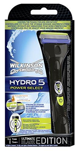 Wilkinson Sword Hydro 5 Power Select Rasierapparat mit 1 Klinge, Black Edition
