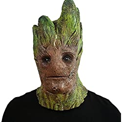 Guardians of the Galaxy Groot máscara - Perfecto para Carnaval y Halloween - Disfraz de Adulto - Latex, unisexo Talla única