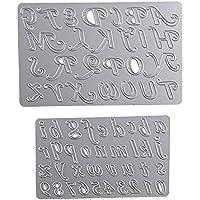 Troqueles de Metal (2 unidades) Dies Corte Plantillas Estarcir para Tarjeta, Papel, Álbum Scrapbook, DIY (Estilo B (Letra))