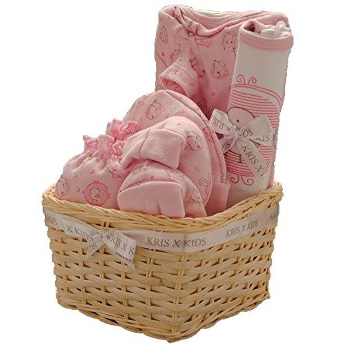 Kris x Kids Baby Set cadeau pour fille ou garçon–Body, Chaussons pour bébé, bonnet et album photo/cad