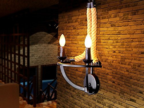 Wandun Moda Nordica Lampade Vintage Corda Rustico Applique Lampada Parete