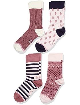 s.Oliver Socks, Calcetines para Niñas (Pack de 4)