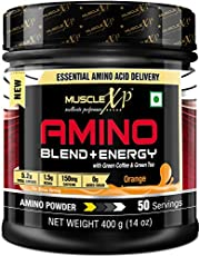 MuscleXP Amino Blend Energy Powder Orange 400g 50 Servings