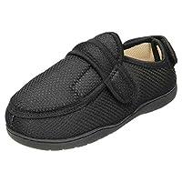 jwf Unisex 5E Wide Fit Closed Toe Slippers Shoe Multi Black 9/10 UK