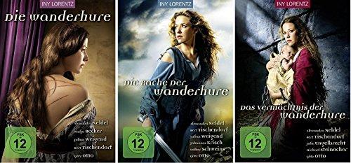 Die Wanderhure 1-3 DVD Set Triologie I-III Die Rache der Wander Hure, das Vermächtnis, deutsch, Alexandra Neldel, KEINE Box