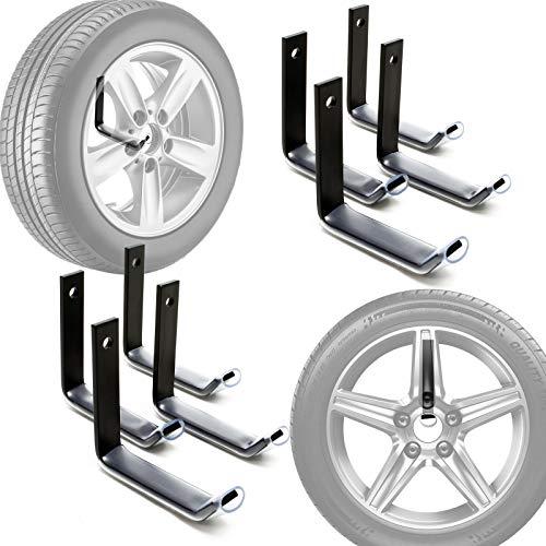 Reifenhalter Wandmontage für 8 Reifen Zubehör für Reifen Reifenregal Felgenbaum