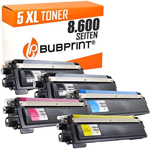 Bubprint 5 Toner kompatibel für Brother TN-230 TN230 TN 230 für DCP-9010CN HL-3040CN HL-3070CW MFC-9120CN MFC-9320CW Schwarz Cyan Magenta Gelb - Drucker Brother Mfc9320cw
