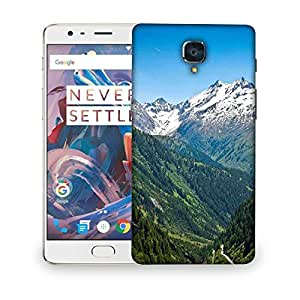 Snoogg White Mounatins Designer Protective Phone Back Case Cover For OnePlus 3