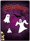 Gespenster Einladungskarten Grusel Faktor Halloween Kindergeburtstag (8 Stück)
