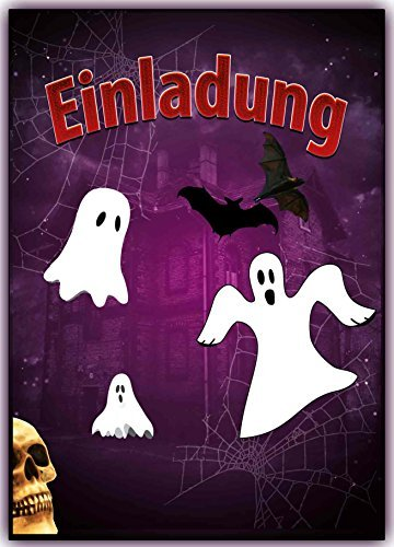 Gespenster Einladungskarten Grusel Faktor Halloween Kindergeburtstag (8 Stück) Einladung Kinder Erwachsene Grusel-Party Geburtstag