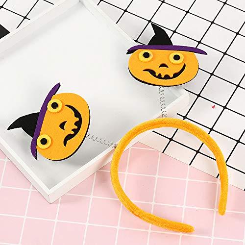 Gshy Dekoration für Karneval Halloween Hut Kopfschnalle Halloween Dekoration Party Props Smiley Gesicht