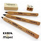 Lyra & Maped–Early Learning Schreiben und Zeichnen Set–Natural Holz Bleistifte