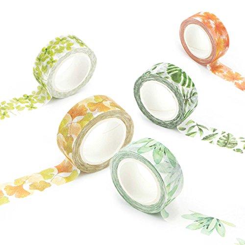 washi-tape-set-masker-tape-art-crafty-rollen-dekorieren-diy-papier-klebeband-15-mm-x-7-mm-floral-lea