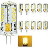 Bombillas , Welsun 10X G4 / G9 LED, 4W, equivalente a 35W lámpara halógena, 280LM, ángulo de haz de 360 grados, AC10-20V ( Color : Blanco Cálido , Talla : G6 )