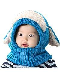 Uworth Carino Cappelli Bambina Invernali Autunno Maglia di Lana Cappelli  Bimba Paraorecchie Sciarpa Cappuccio Natale 37e7703ae59d