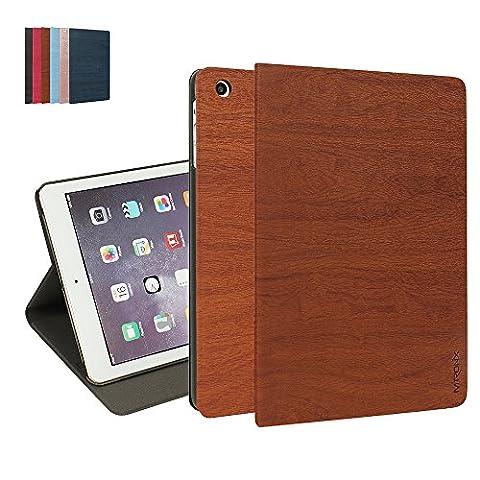 iPad Mini 3 / Mini 2 / Mini 1 Case, MTRONX Smart Cover Case Lightweight Ultra Slim Fit Folio Multi-angle PU Leather Book Shell Stand Auto Wake & Sleep for Apple iPad Mini 1/2/3 - Brown (WS-BN)
