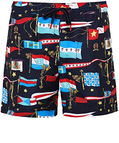 Tommy Hilfiger Herren Schlanke Passform Schwimmen Shorts Marine XL