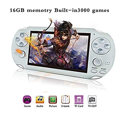"""YLM Handheld Game Console , Retro Game Console with 3000 Classic Games 4.3"""" 64 Bit Portable Game Console"""