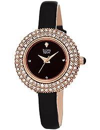 e9aa4e165b55 Burgi® BUR195 - Reloj de pulsera para mujer con cristales Swarovski y  diamante acentuado – correa de piel…